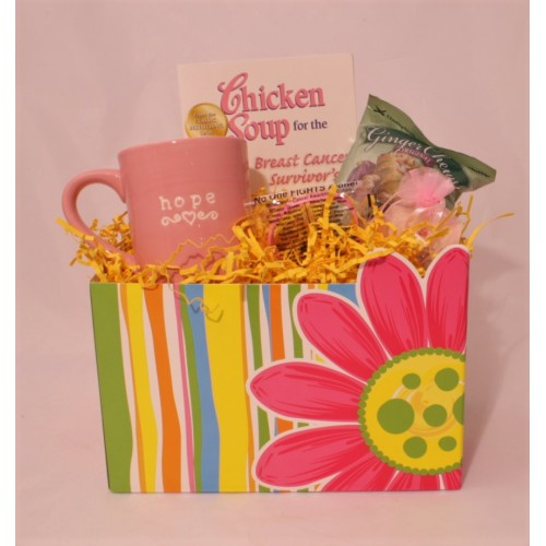 No one Fights Alone Breast Cancer Basket