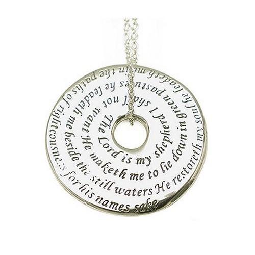 23rd Psalm Silver Pendant