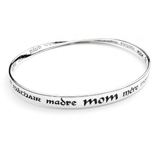 'Mother' In 32 Languages and Scripts Mobius Bracelets