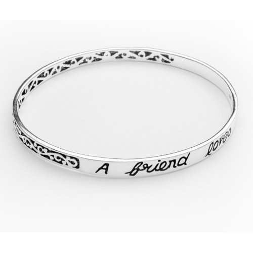 A friend loves at all times..  Bangle