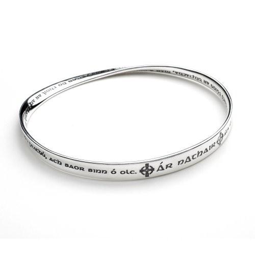 Gaelic Lord S Prayer Mobius Bracelet