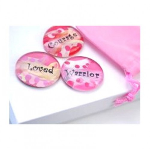 Beautiful Pocket Stones Courage Warrior Loved