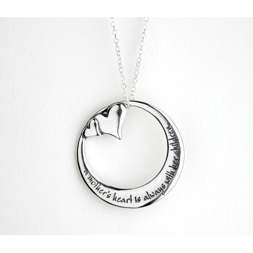A mother s heart is always with her children necklace healing baskets a mothers heart is always with her children necklace aloadofball Images