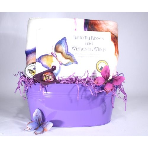 Butterfly Kisses Cancer Basket