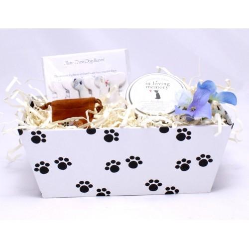 loss of a dog sympathy basket healing baskets