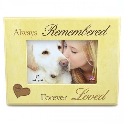 Always Remembered Forever Loved Dog Paw Frame
