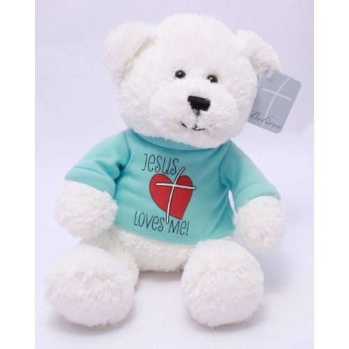 Jesus Loves Me Bear By Gund Plush Stuffed Toy Healing Baskets