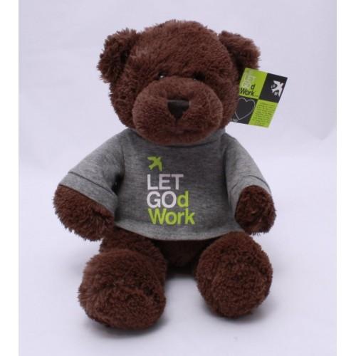 LET GOd Work Bear by GUND Plush Stuffed Toy