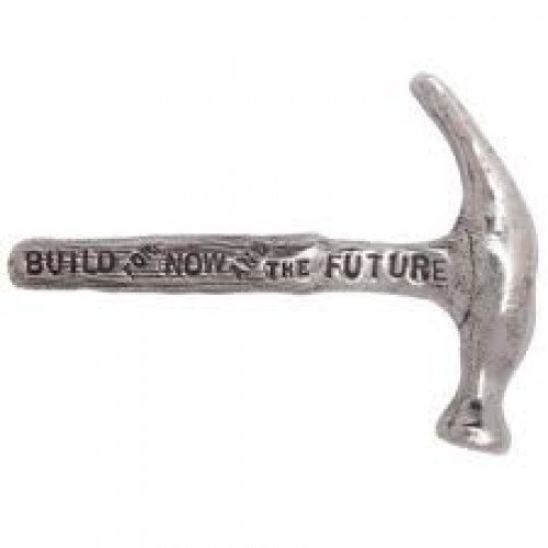 Build for Now and the Future Hammer paperweight by Tamara Hensick