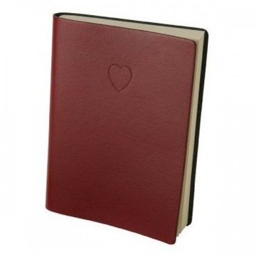 Heart Embossed Red  Lined Journal by Eccolo