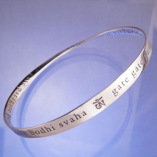 The Heart Sutra Mantra Mobius Bracelet