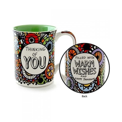 Thinking of You Mug Filled with Warm Wishes and Happy Thoughts