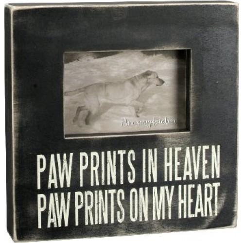 Paw Prints in Heaven Box Frame