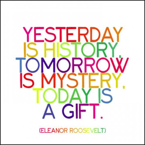 Yesterday Is History Today Is A: Yesterday Is History Tomorrow Is Mystery Today Is A Gift