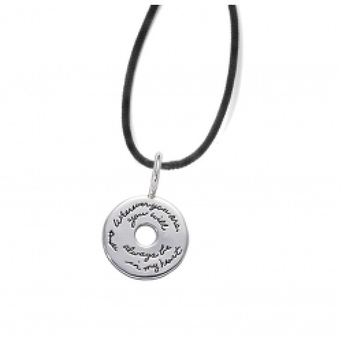 Wherever You are... in my heart. Unisex Necklace