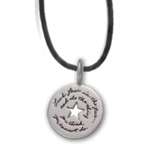 Yes You Can Sterling Unisex Token Necklace by BB Becker