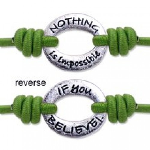 Nothing is Impossible / If you Believe - Bandz Bracelet